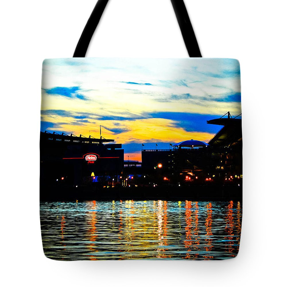 Heinz Tote Bag featuring the photograph Heinz Field by Kayla Kyle