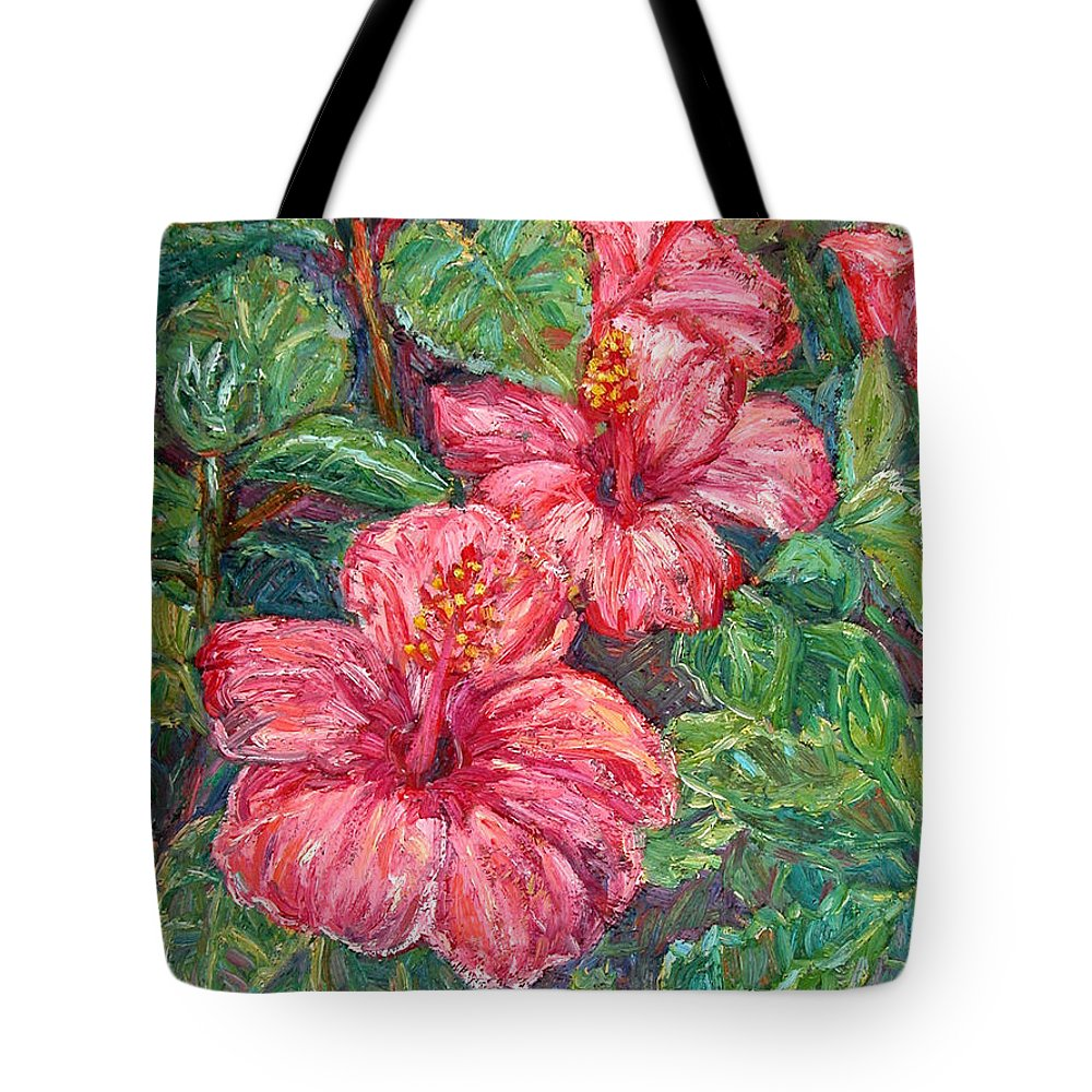 Hibiscus Tote Bag featuring the painting Hibiscus by Kendall Kessler