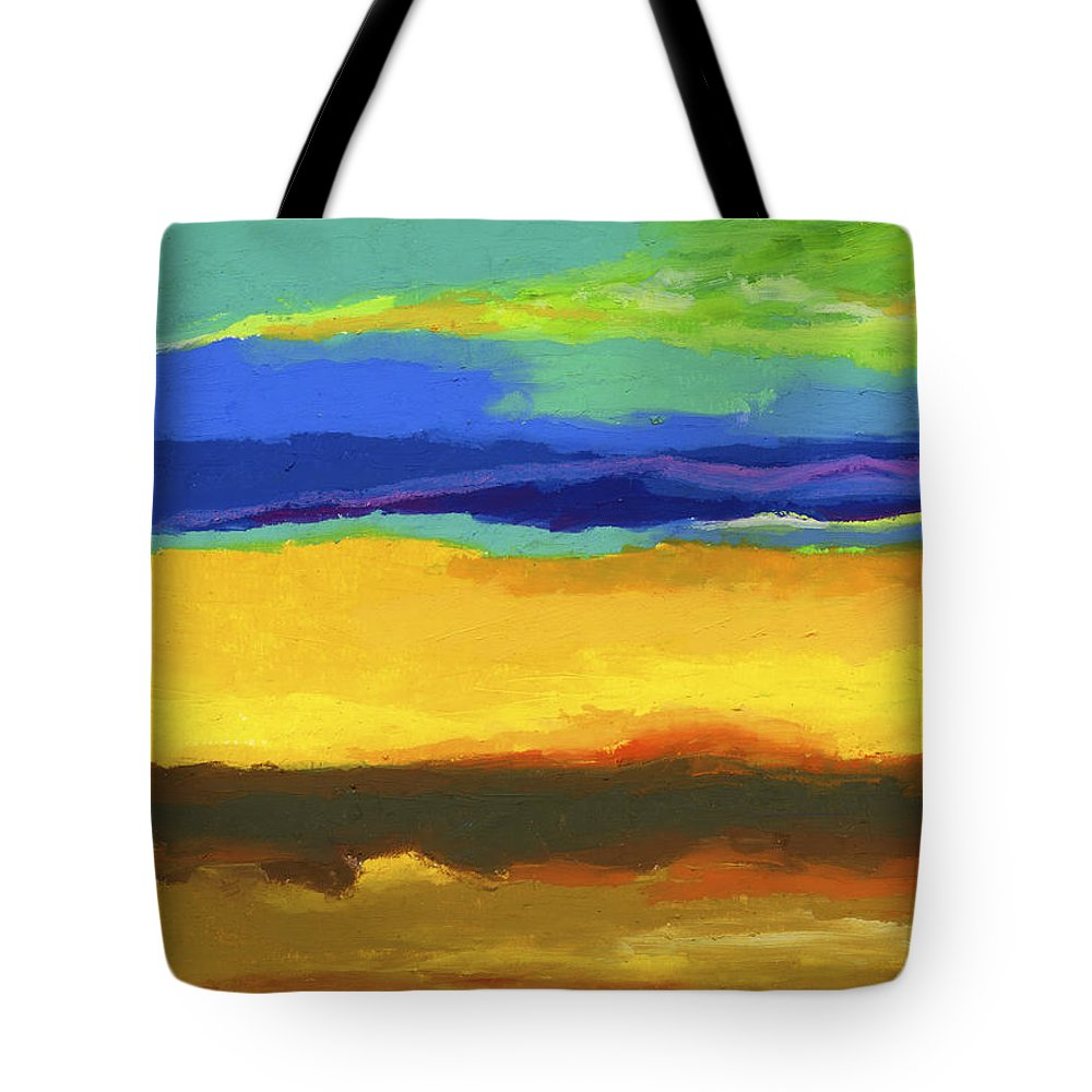 Landscape Tote Bag featuring the painting Horizons by Stephen Anderson