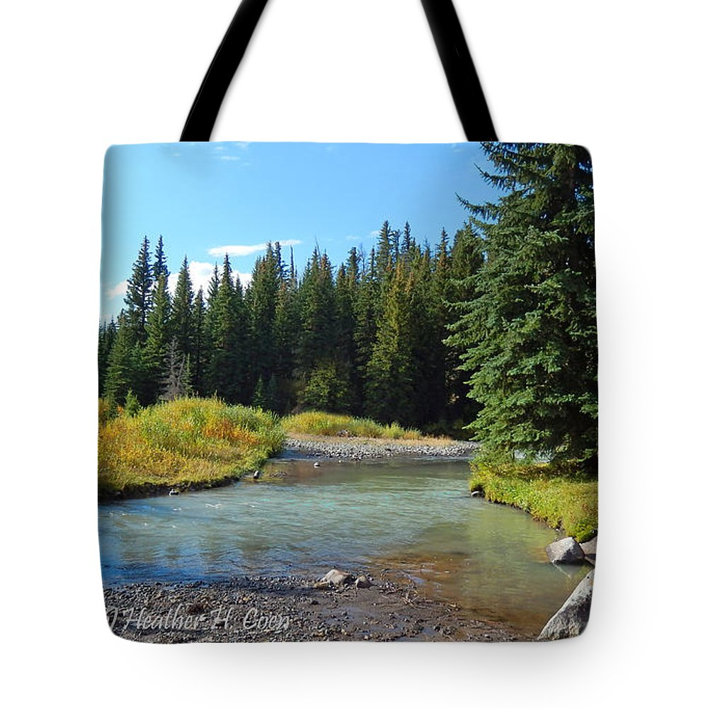 Horse Creek Tote Bag featuring the photograph Horse Creek by Heather Coen