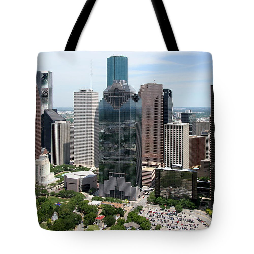 Houston Tote Bag featuring the photograph Houston Skyline by Bill Cobb