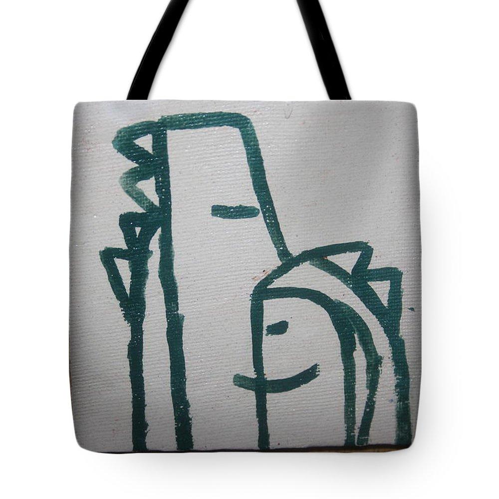 Jesus Tote Bag featuring the ceramic art Hugs - Tile by Gloria Ssali
