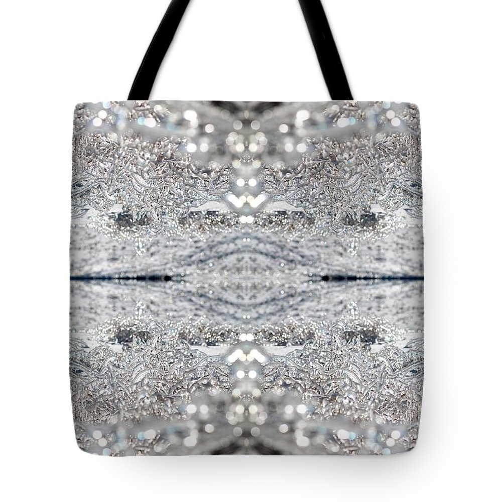 Mccombie Tote Bag featuring the digital art Ice Storm Abstract by J McCombie