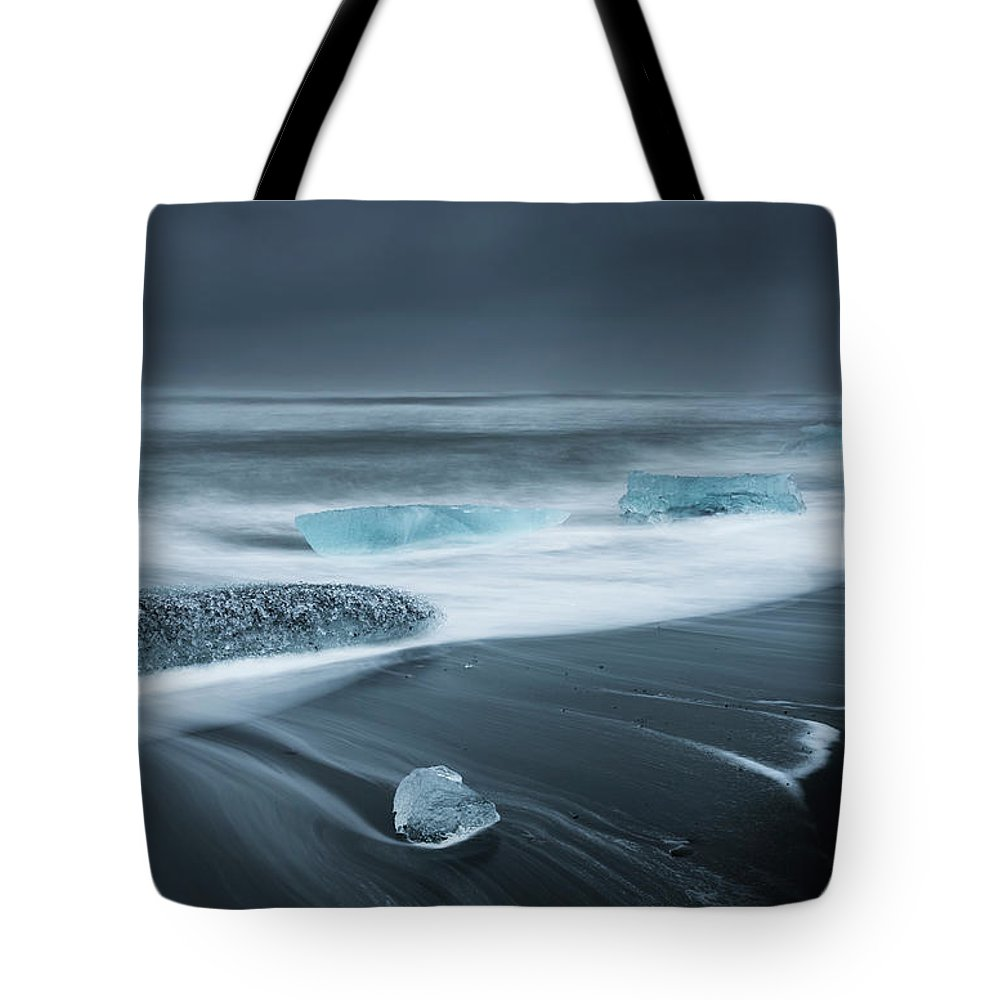 Water's Edge Tote Bag featuring the photograph Iceland by Jeremy Walker