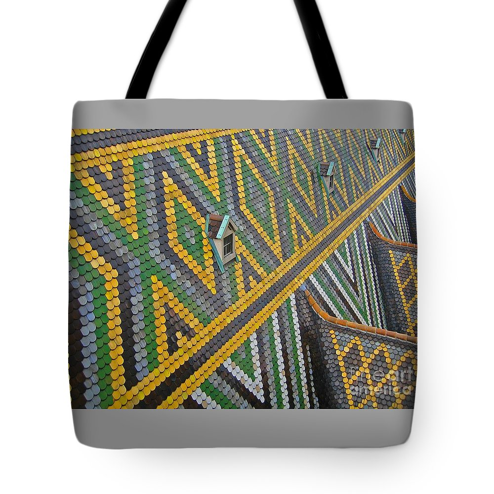 Vienna Tote Bag featuring the photograph Iconic Rooftop by Ann Horn
