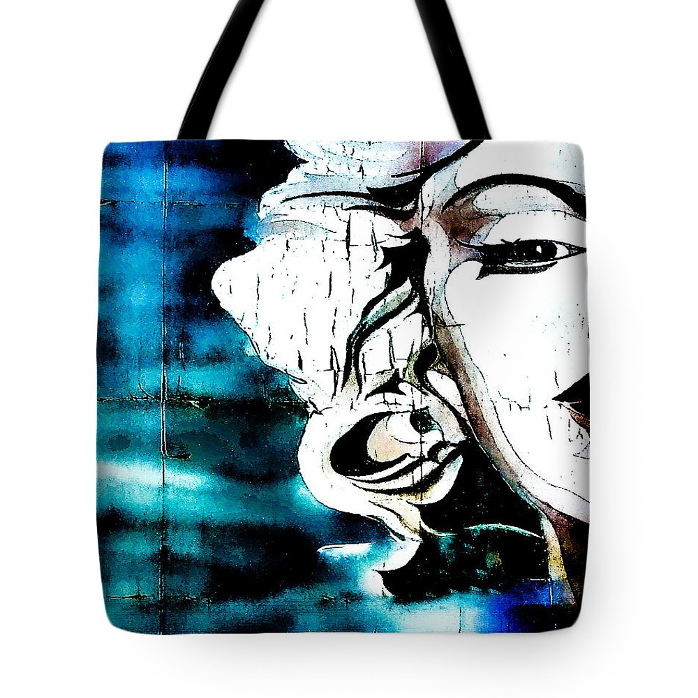 Marilyn Monroe Tote Bag featuring the photograph I'm Not Elvis by Digital Kulprits