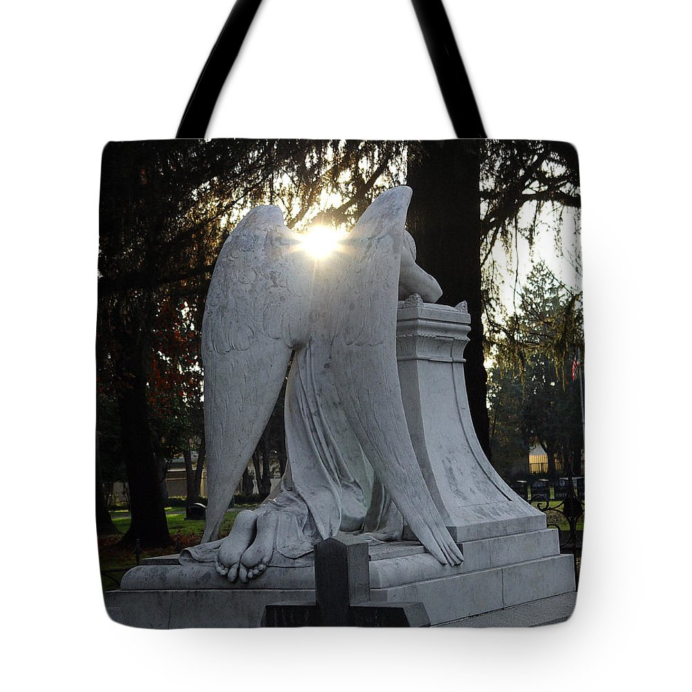 Guardian Tote Bag featuring the photograph In The Shadow Of His Light by Peter Piatt