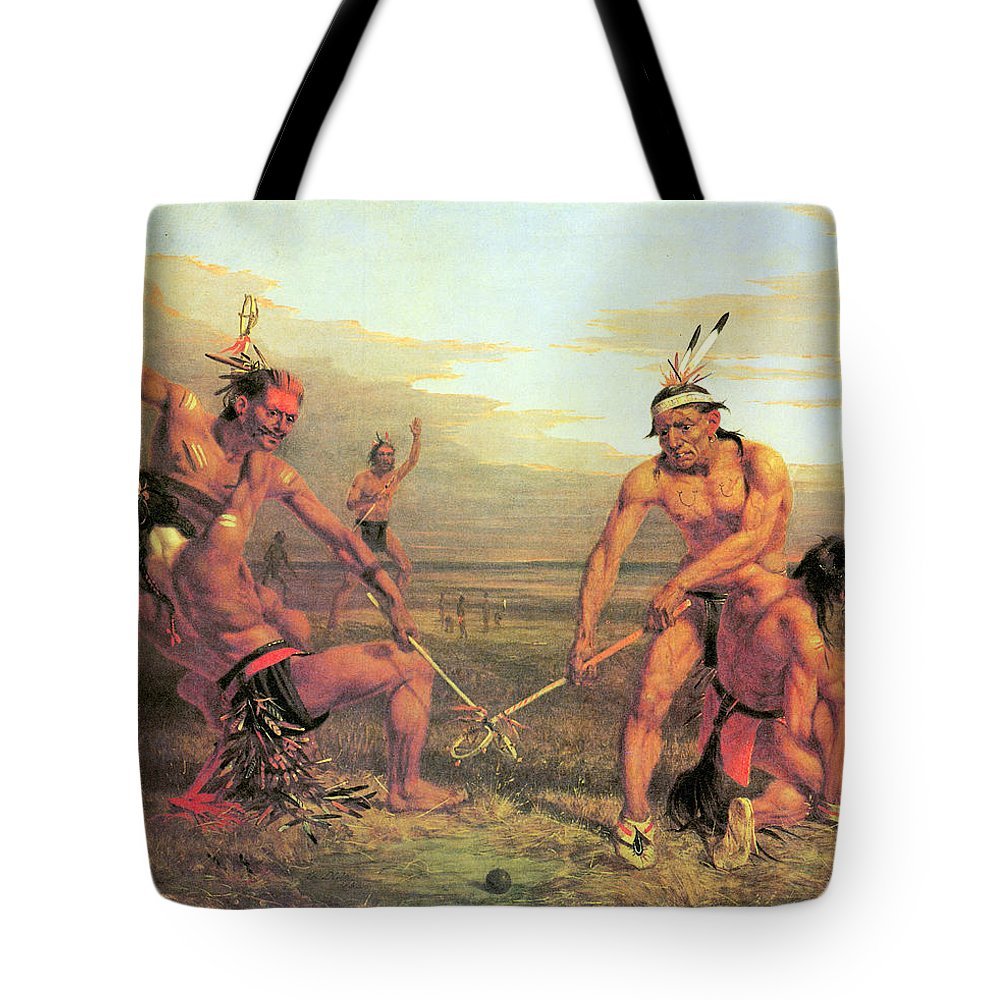 Indian Ball Game Tote Bag featuring the photograph Indian Ball Game by Charles Deas