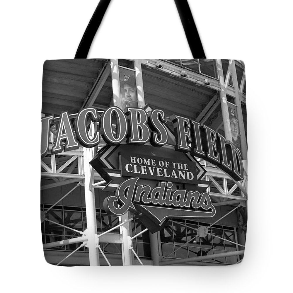America Tote Bag featuring the photograph Jacobs Field - Cleveland Indians by Frank Romeo