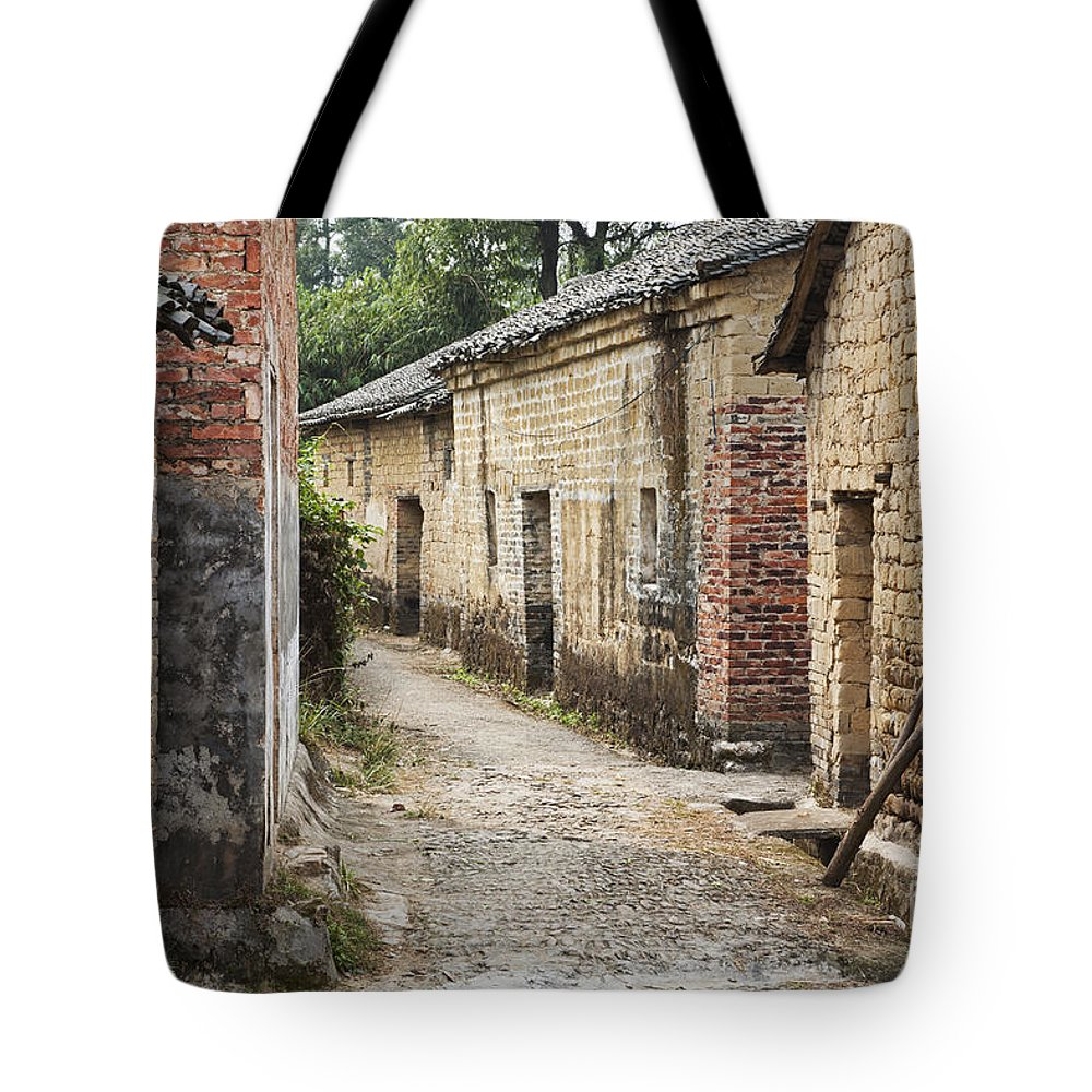 Guangxi Province Tote Bag featuring the photograph Jiangtou Ancient Village by David Davis