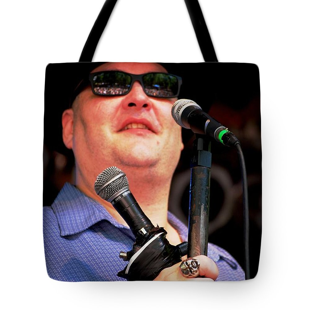 Music Tote Bag featuring the photograph John Popper by Angela Murray