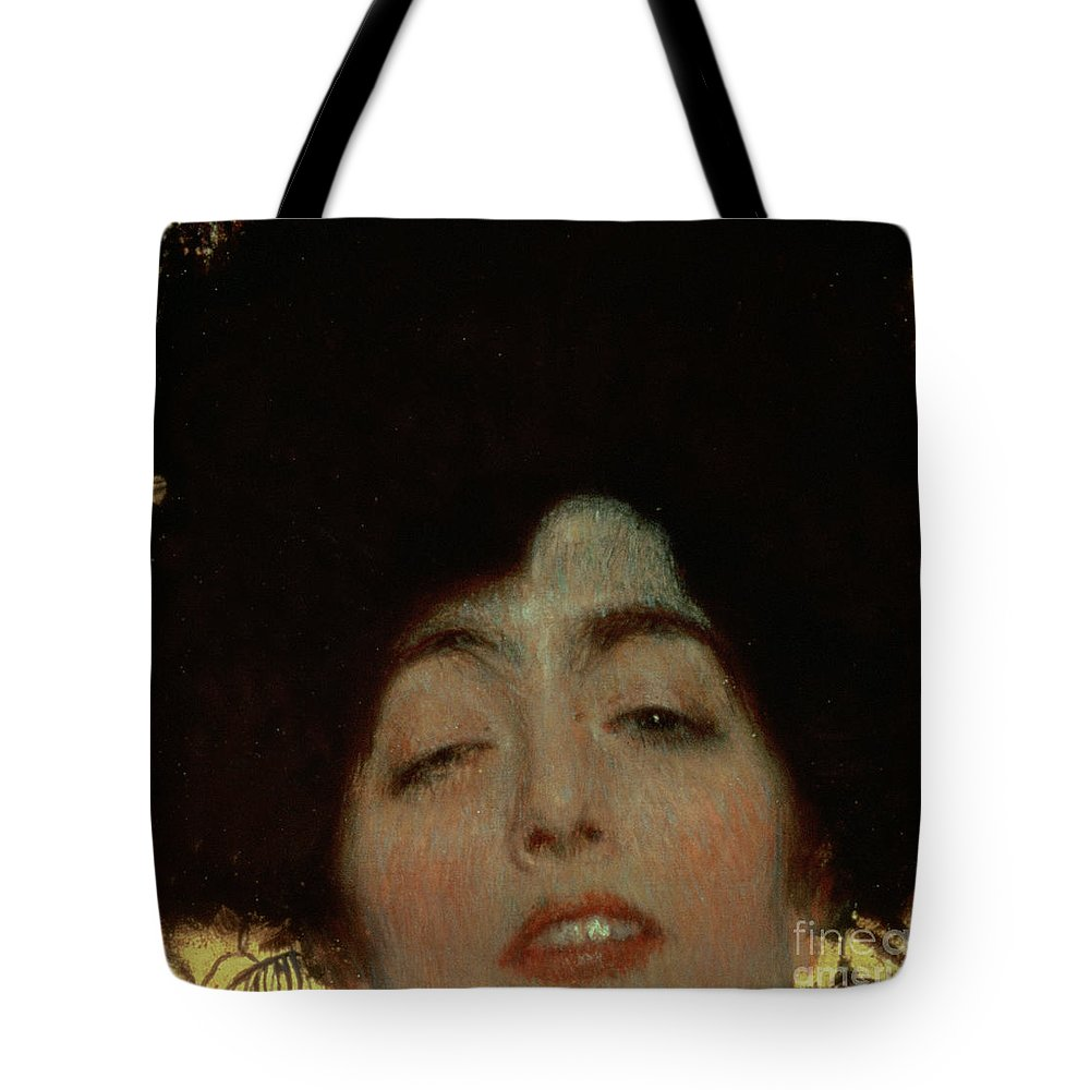 Judith And Holofernes Tote Bag featuring the painting Judith by Gustav Klimt