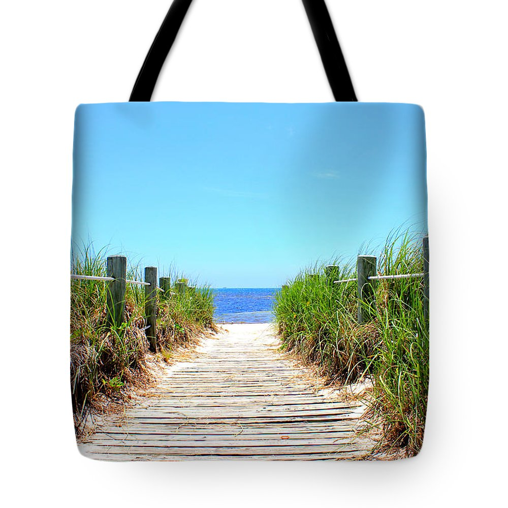 Beach Tote Bag featuring the photograph Key West Beach by Iryna Goodall