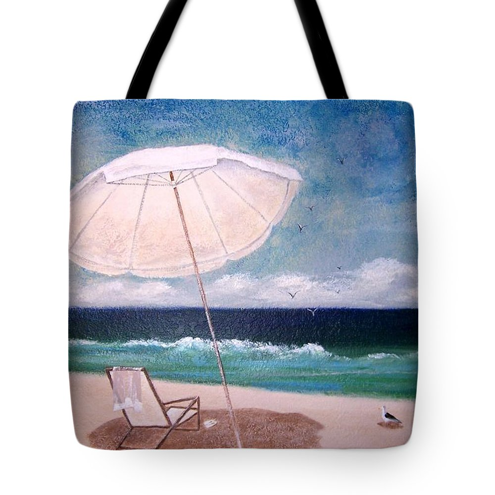 Beach Tote Bag featuring the painting Lazy Day by Jamie Frier