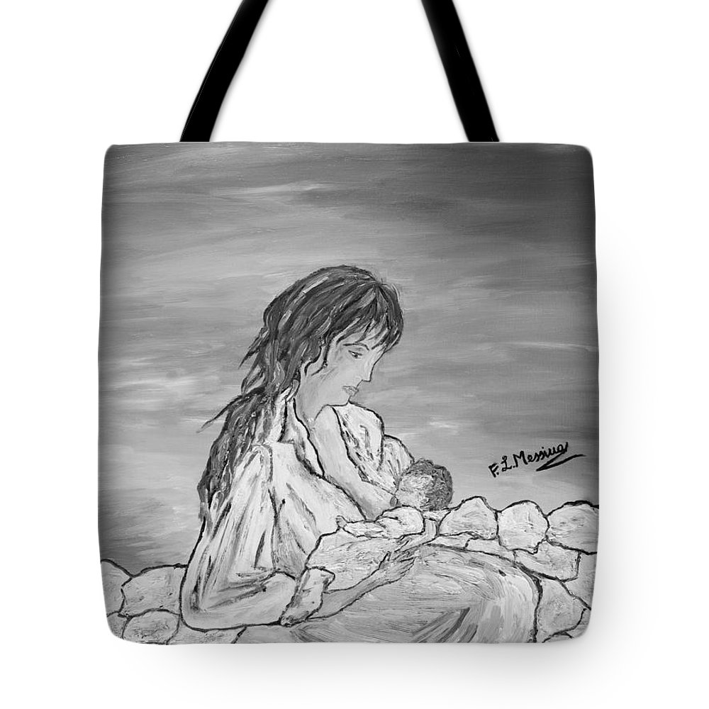 Drawing Tote Bag featuring the painting Legame Continuo by Loredana Messina