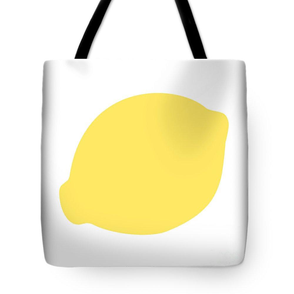 Lemon Tote Bag featuring the digital art Lemon by Jackie Farnsworth