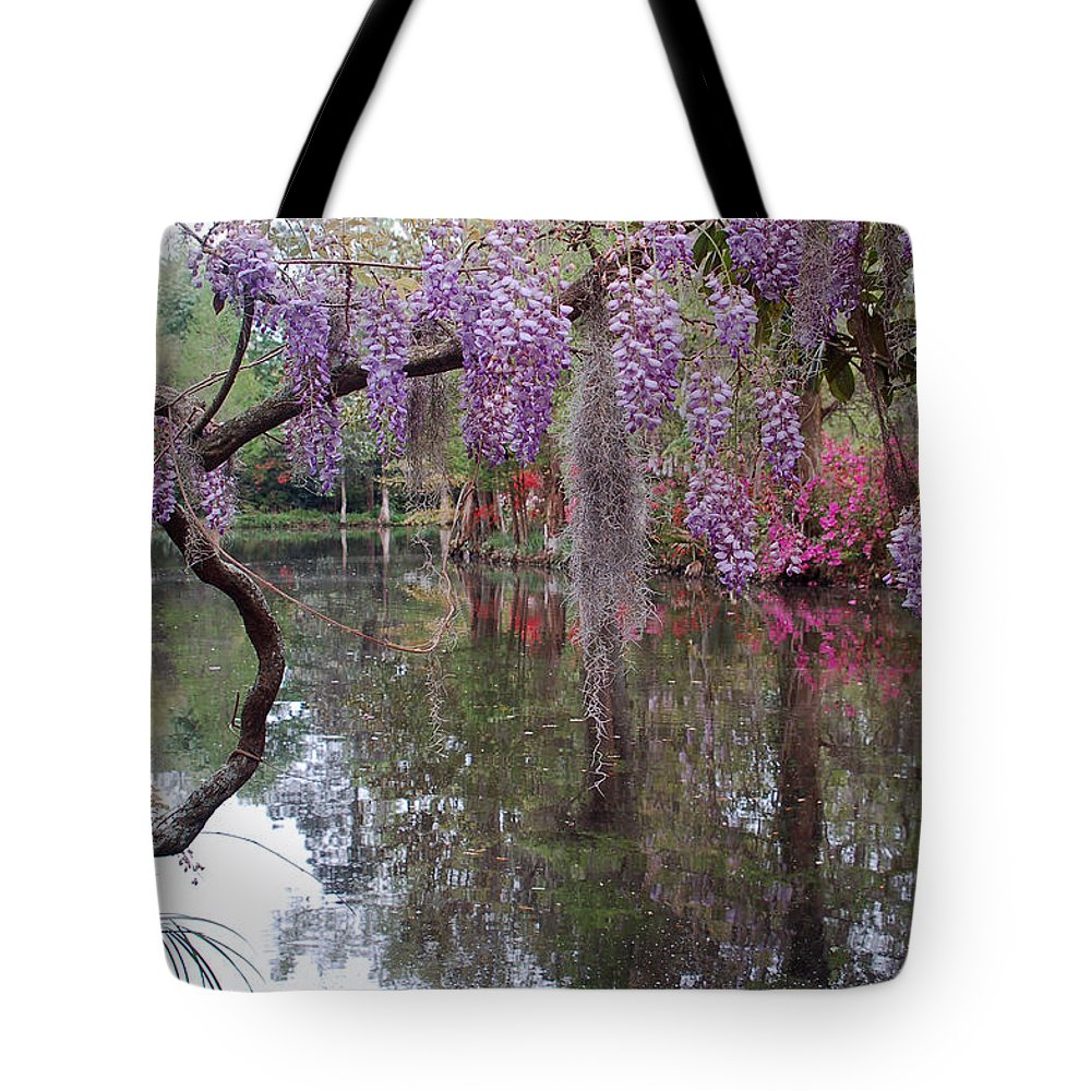 Wisteria Tote Bag featuring the photograph Magnolia Plantation Gardens Series II by Suzanne Gaff