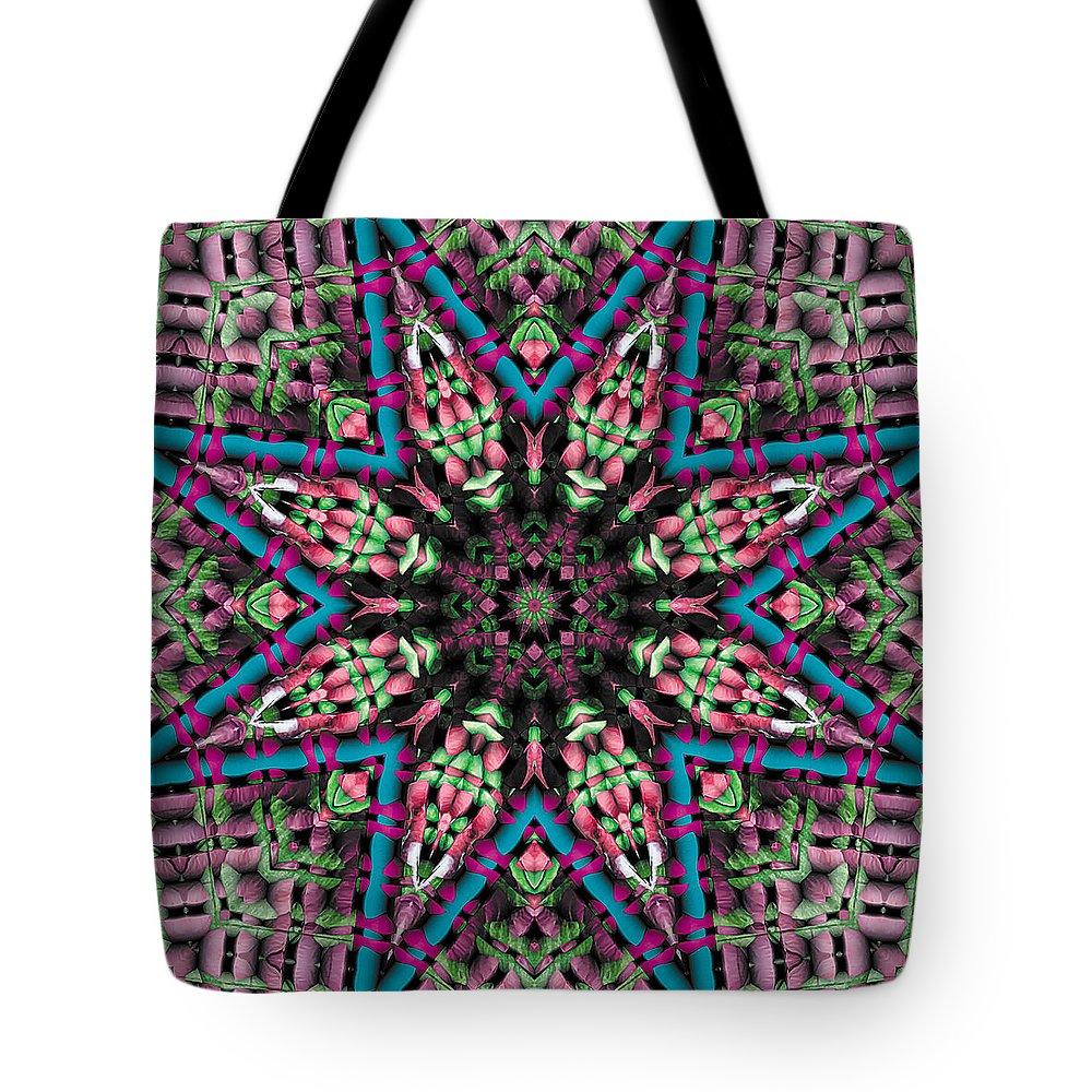 Tibetan Art Tote Bag featuring the digital art Mandala 31 by Terry Reynoldson