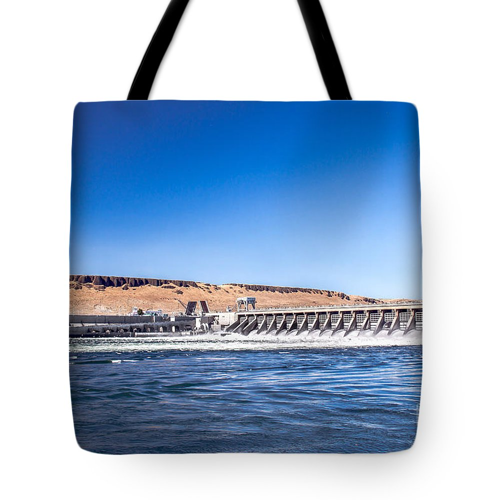 Dam Tote Bag featuring the photograph Mcnary Dam by Robert Bales