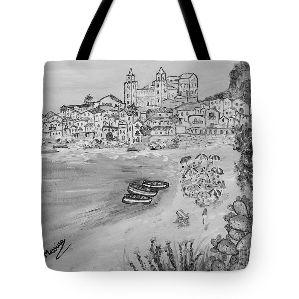 Drawing Tote Bag featuring the painting Memorie D'estate by Loredana Messina