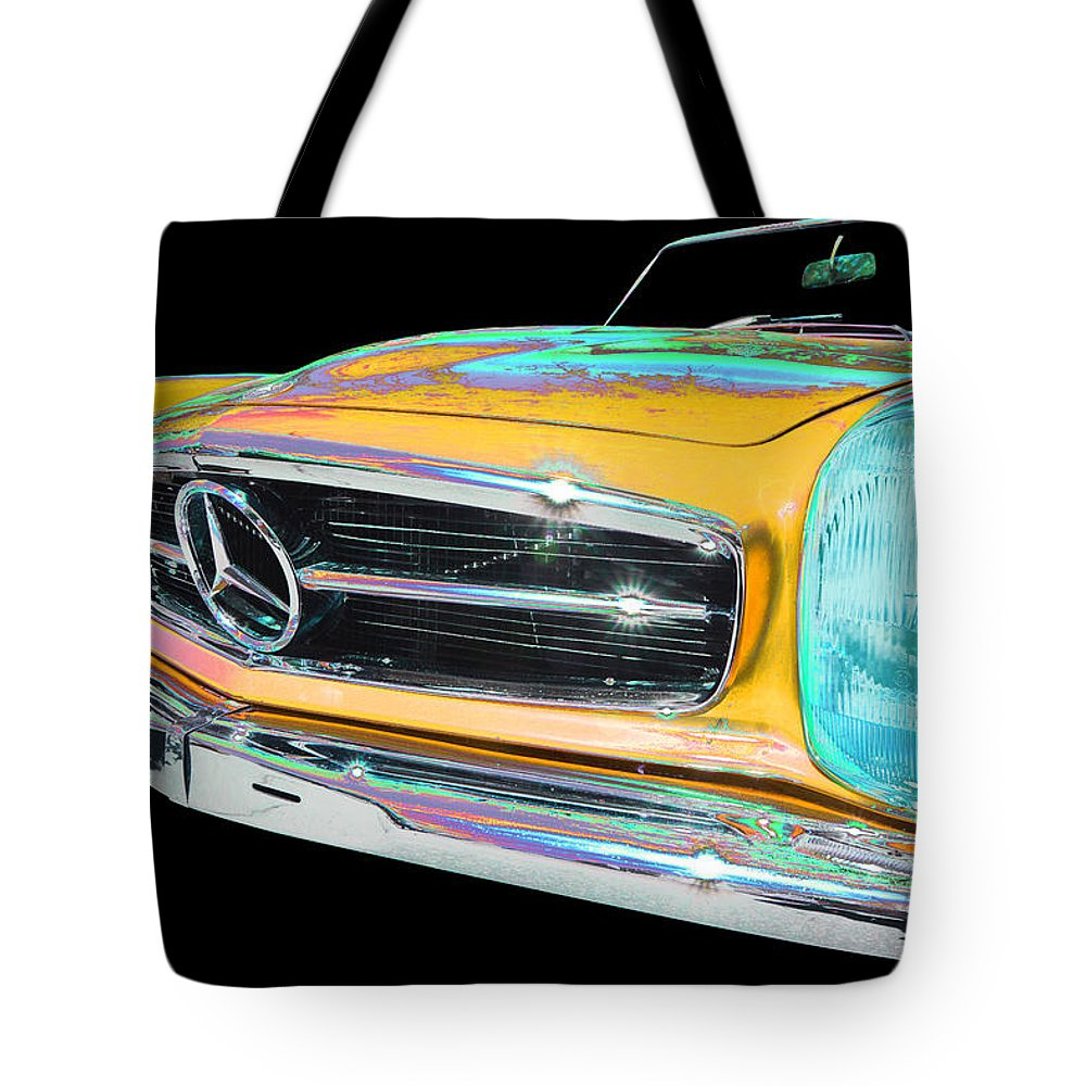 1967 Mercedes Benz 250sl Tote Bag featuring the photograph Mercedes Benz by Allan Price