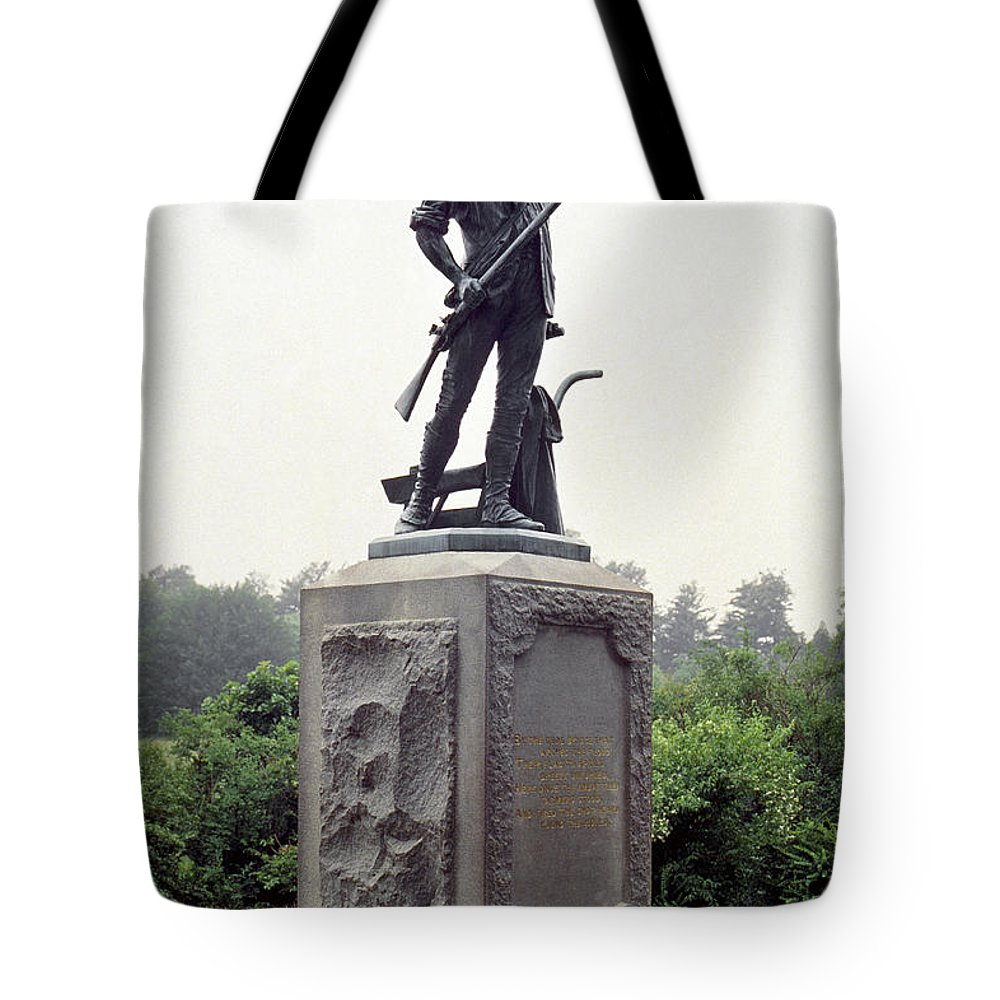 American Tote Bag featuring the photograph Minutemen Soldier by Granger