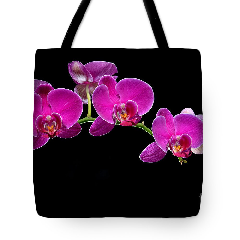 Flower Tote Bag featuring the photograph Moon's Orchid by Antoni Halim