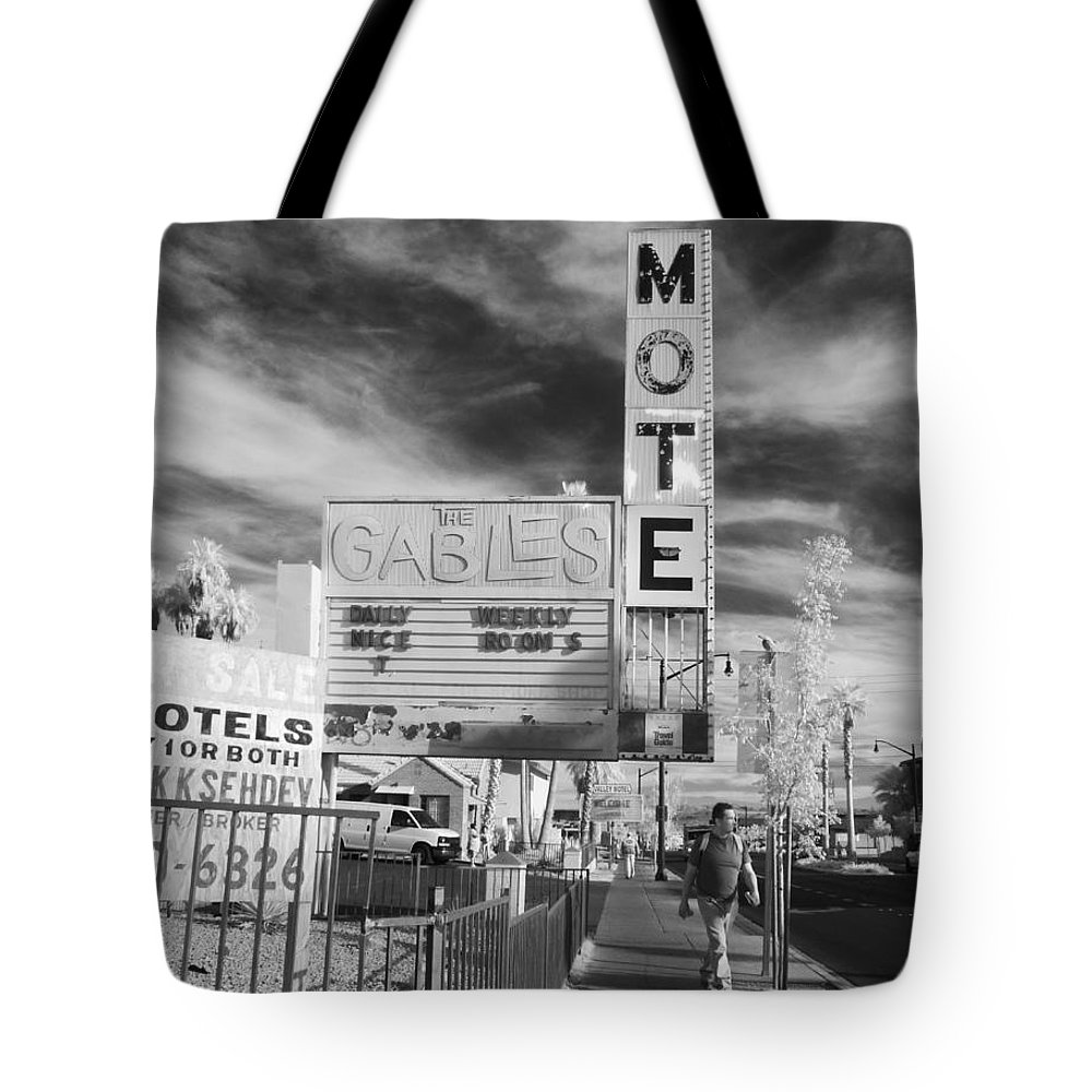 Tote Bag featuring the photograph 2 Motels by Jennifer Ann Henry