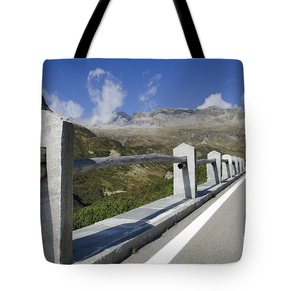 Panoramic View Tote Bag featuring the photograph Mountain Road by Mats Silvan