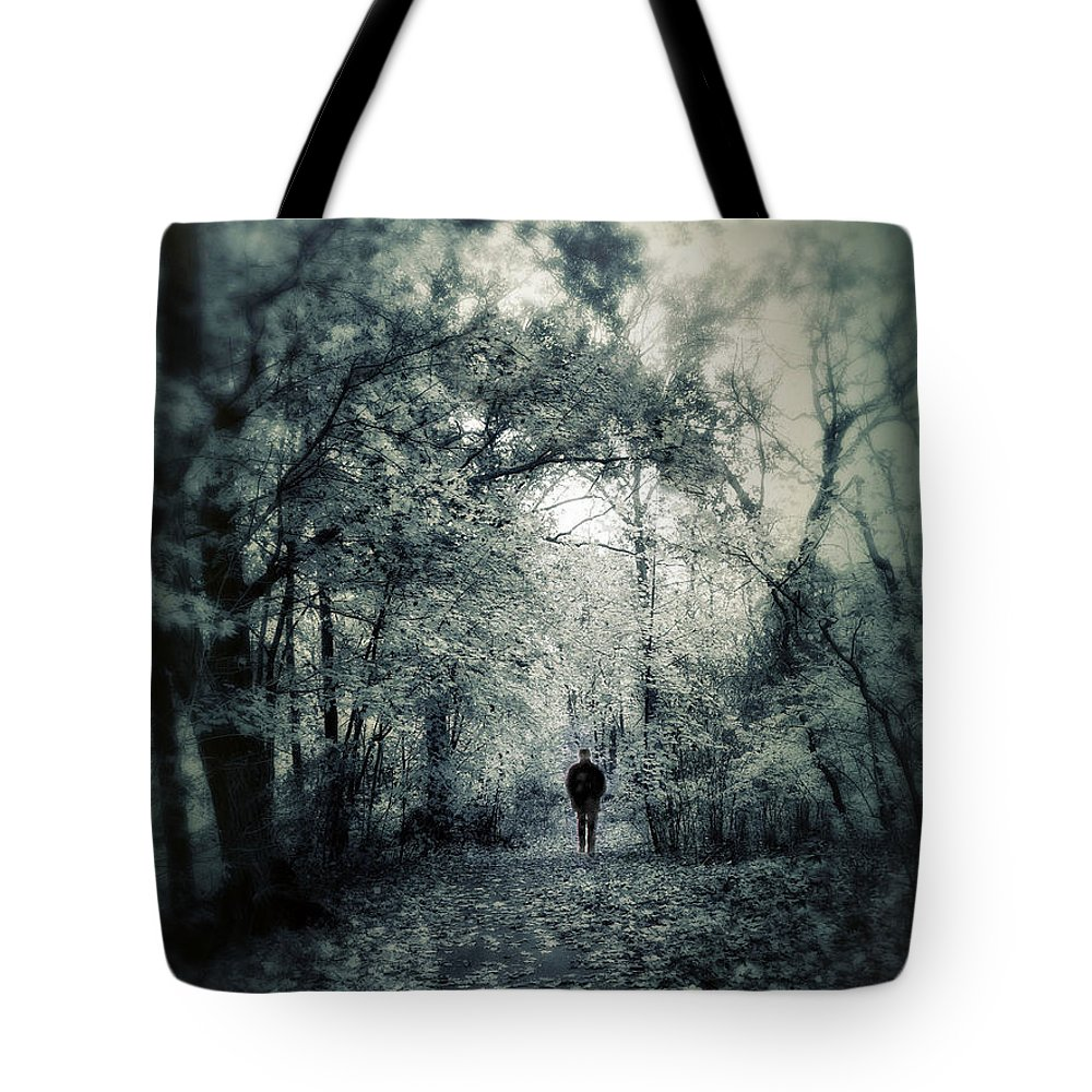 Nature Tote Bag featuring the photograph Mournful Journey by Jessica Jenney