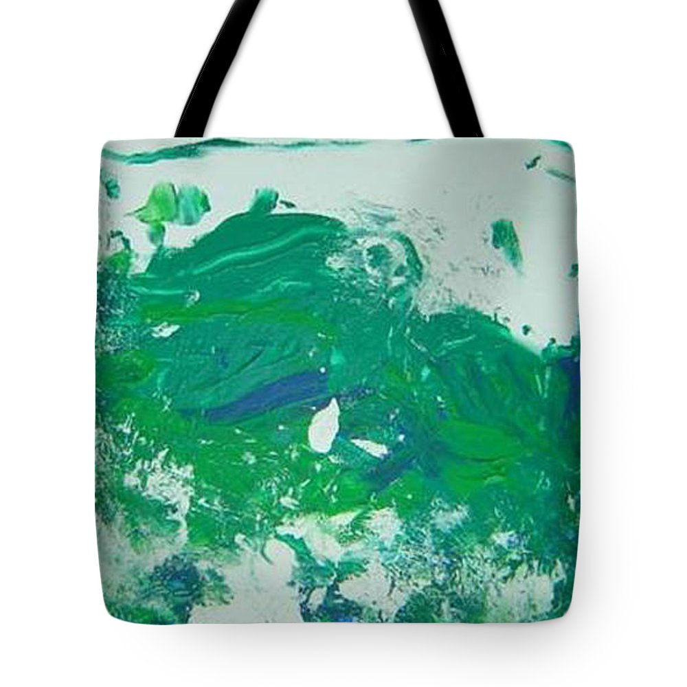 Impetus Tote Bag featuring the mixed media Moving Forward I by Luz Elena Aponte