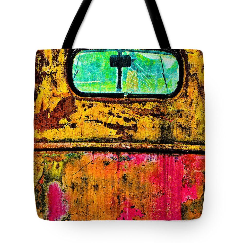 Truck Tote Bag featuring the photograph My Work Here Is Done by Terry Fiala