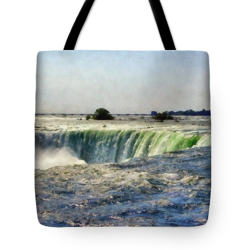 Niagra Tote Bag featuring the photograph Niagara Falls by Michelle Calkins