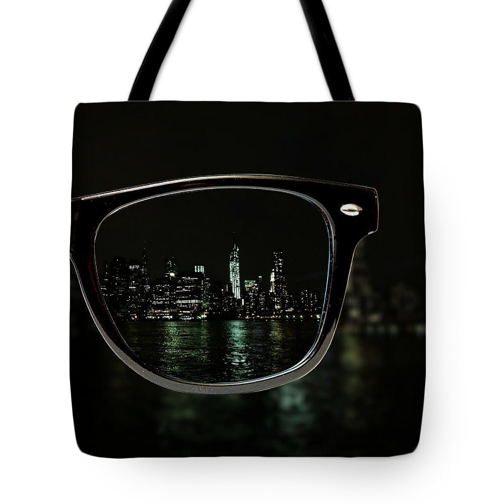Glasses Tote Bag featuring the photograph Night Vision by Natasha Marco