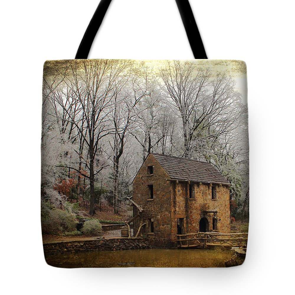 Mill Tote Bag featuring the photograph Old Mill by Karen Beasley