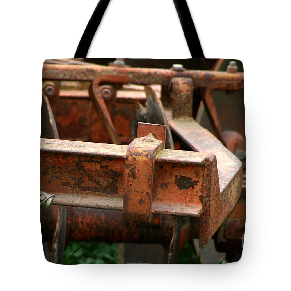 Tractor Tote Bag featuring the photograph Old Mowing Machine by Doc Braham