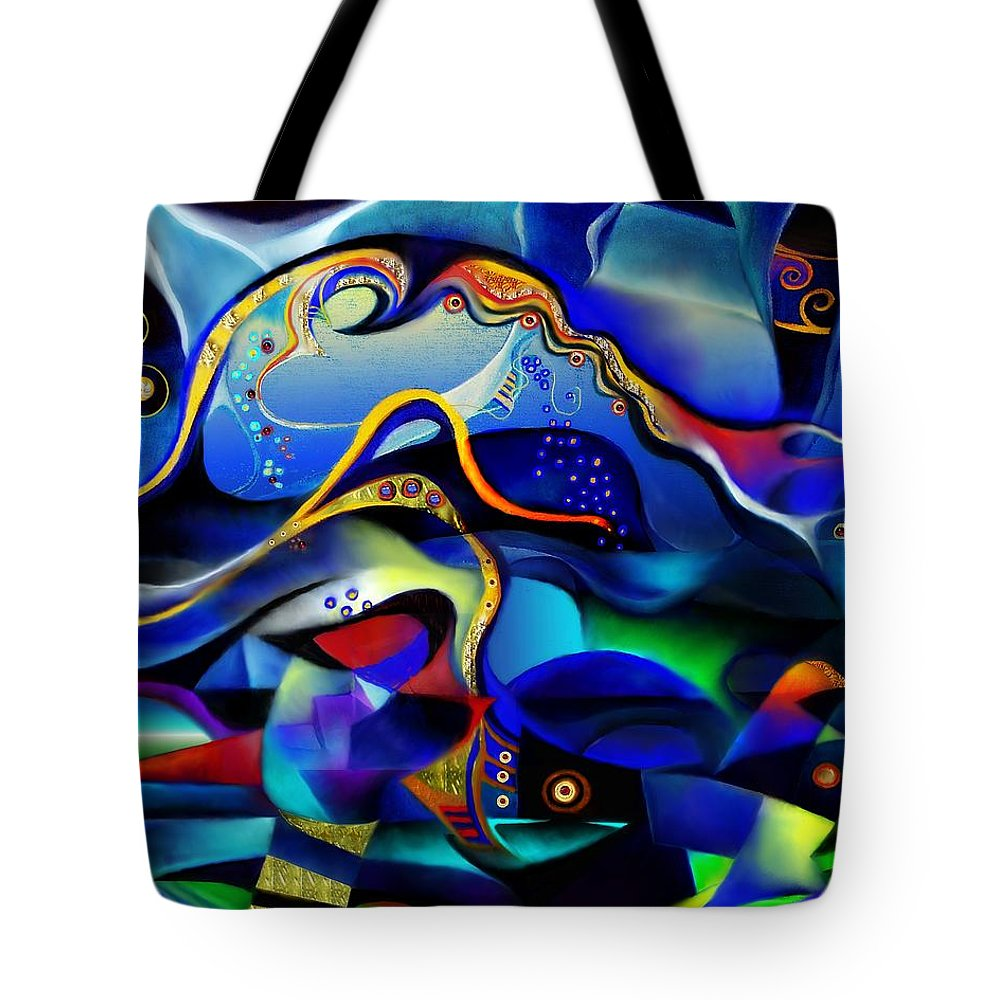 Orpheus And Eurydike Tote Bag featuring the painting Orpheus And Eurydike by Wolfgang Schweizer
