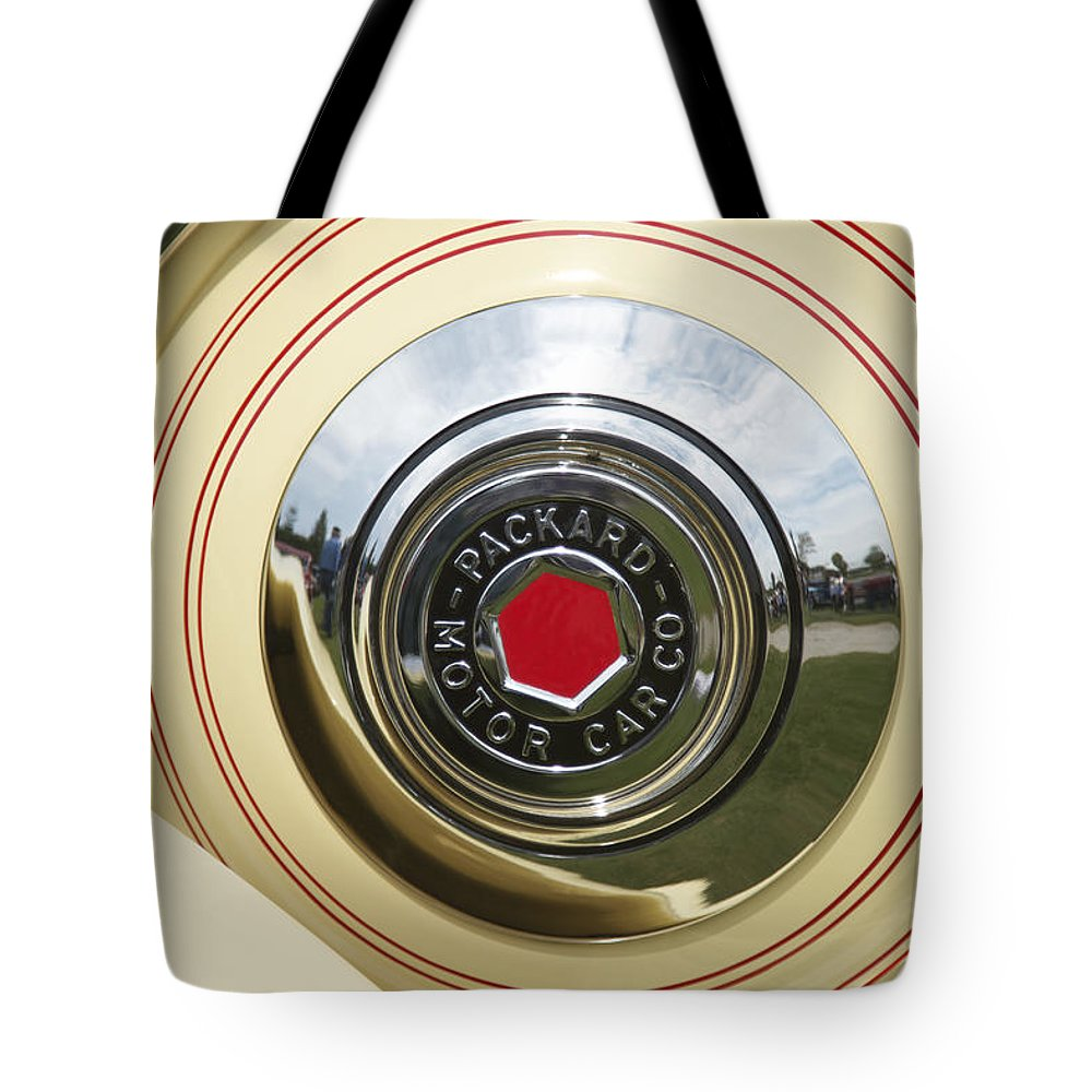 Antique Tote Bag featuring the photograph Packard 1936-37 by Jack R Perry