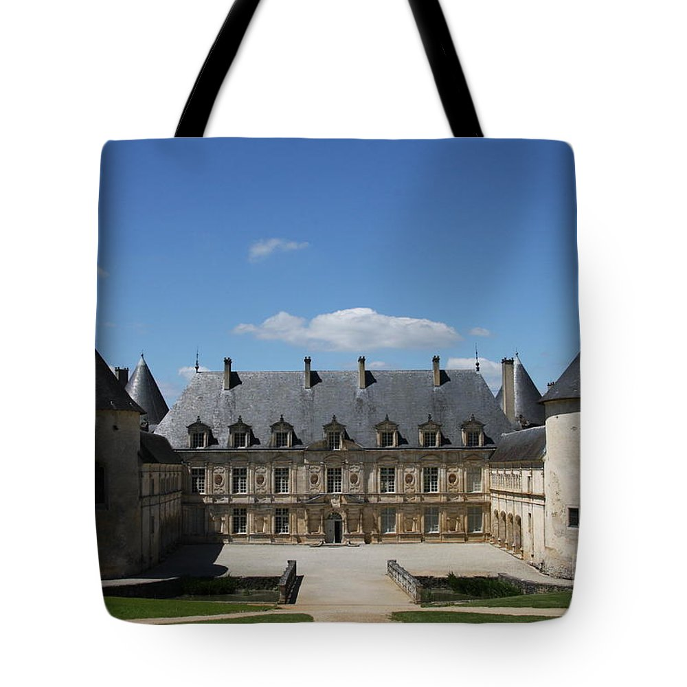 Palace Tote Bag featuring the photograph Palace Bussy Rabutin - Burgundy by Christiane Schulze Art And Photography