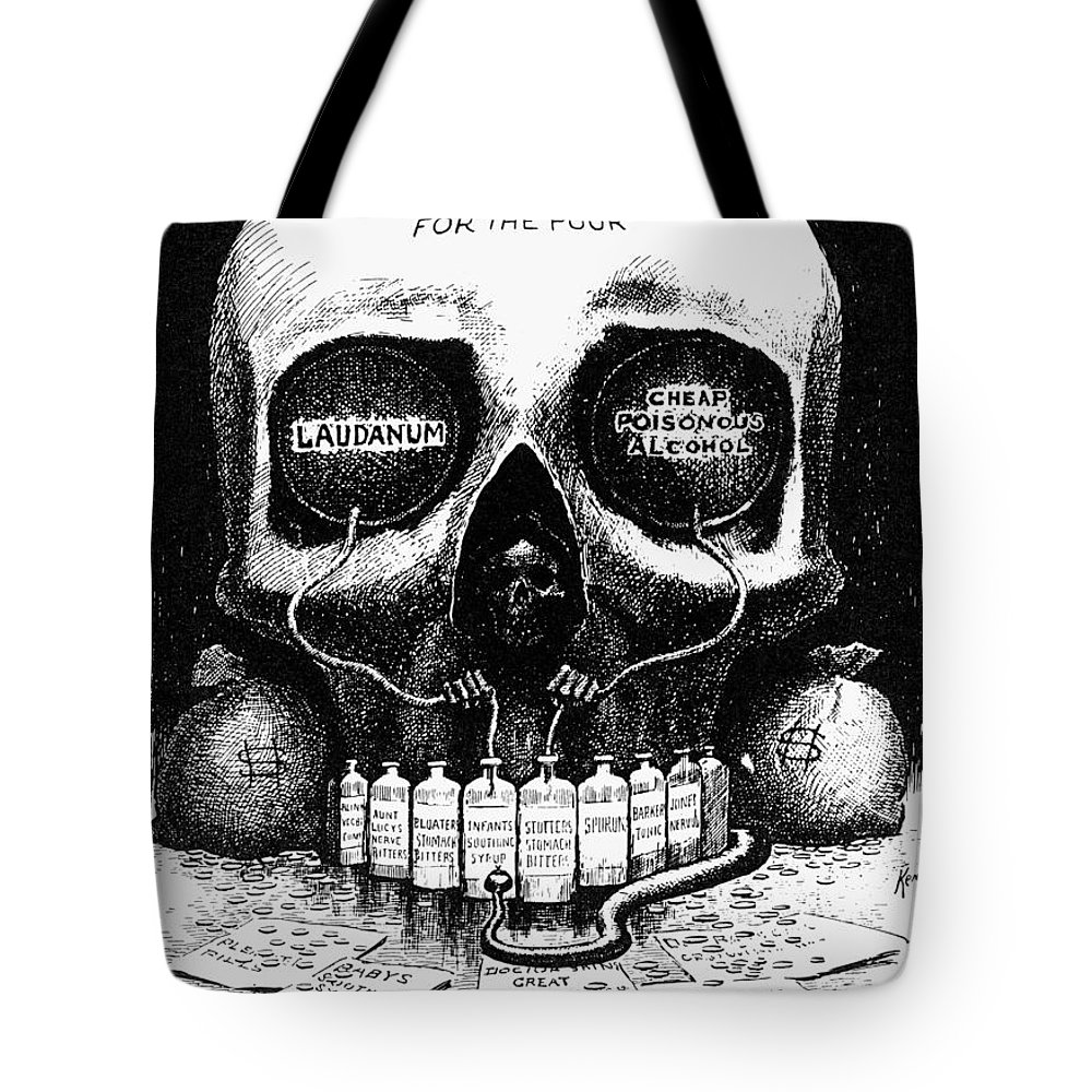 1906 Tote Bag featuring the photograph Patent Medicine Cartoon by Granger