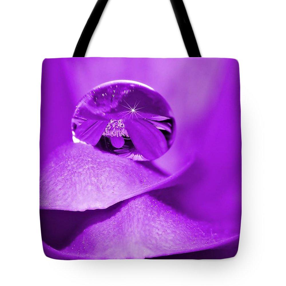 Drops Tote Bag featuring the photograph Pearl by Gabi Siebenhuehner