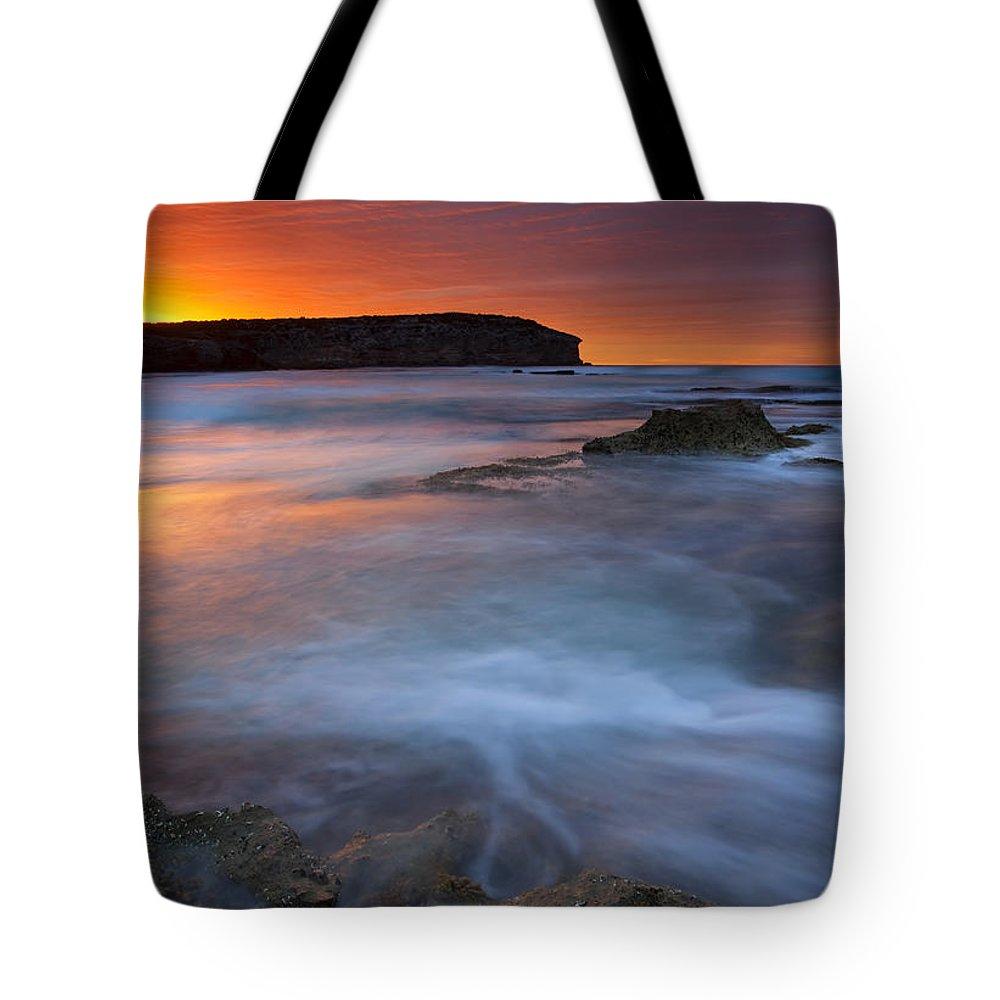 Pennington Bay Tote Bag featuring the photograph Pennington Dawn by Mike Dawson