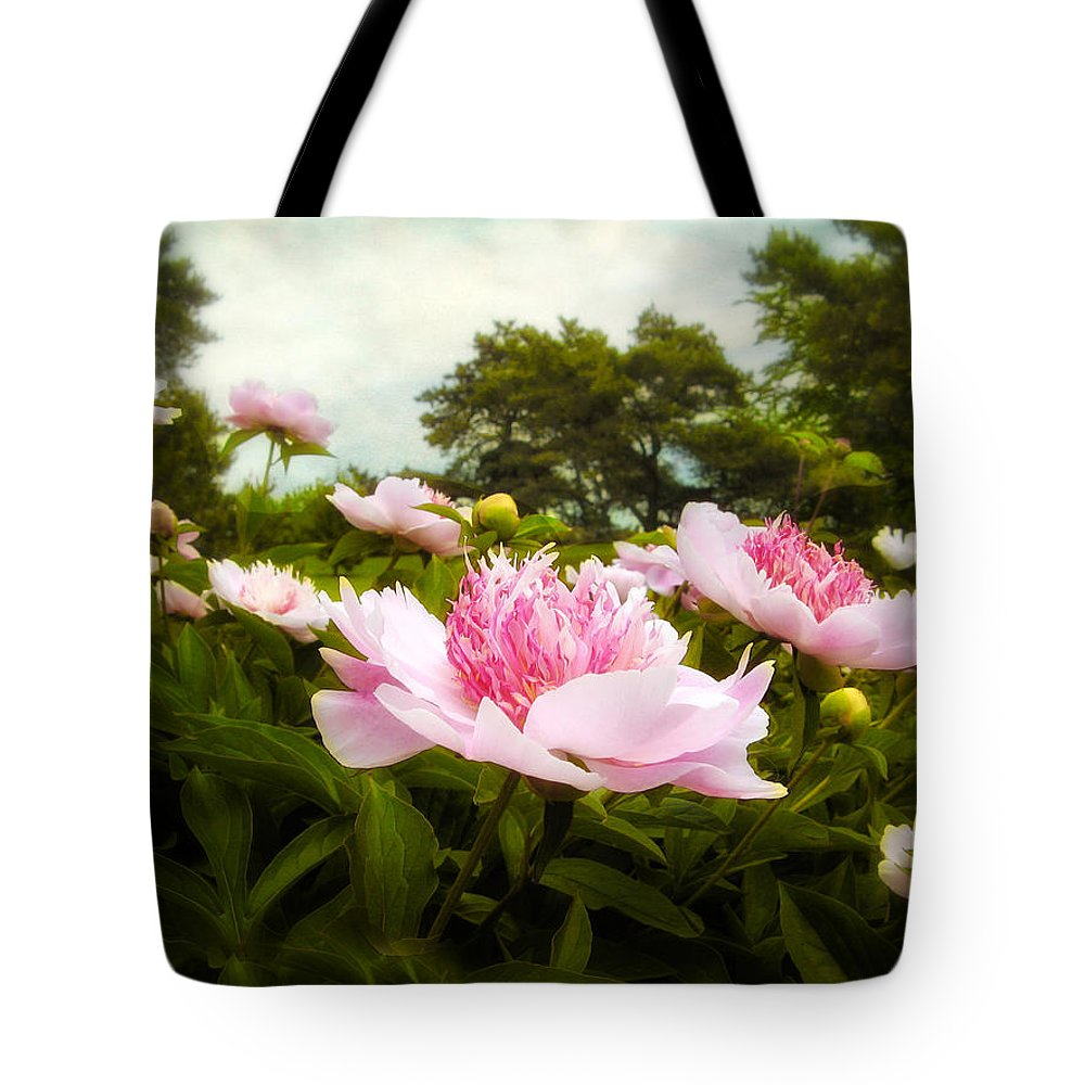 Garden Tote Bag featuring the photograph Peony Garden by Jessica Jenney