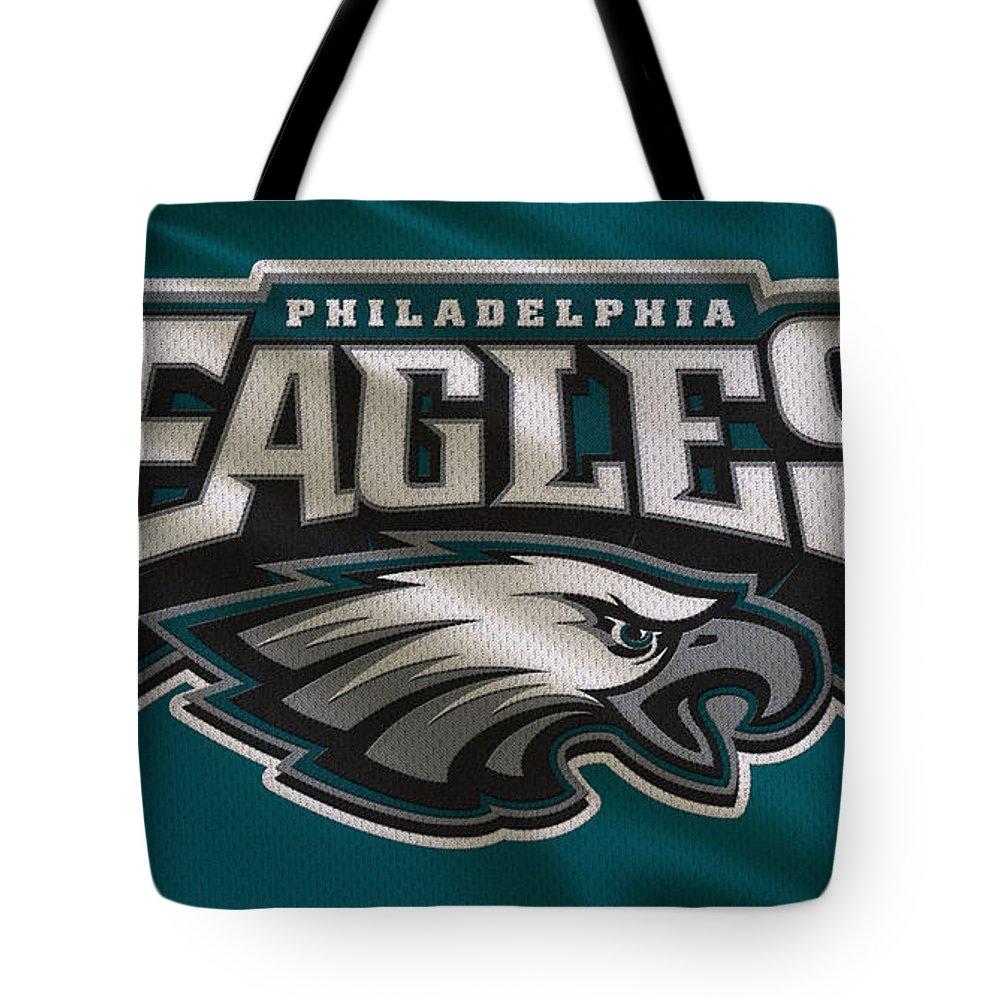 Eagles Tote Bag featuring the photograph Philadelphia Eagles Uniform by Joe Hamilton