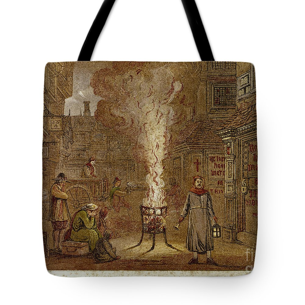 1665 Tote Bag featuring the photograph Plague Of London, 1665 by Granger