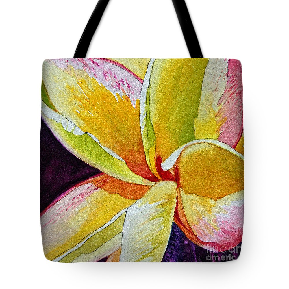 Plumeria Tote Bag featuring the painting Plumeria by Terry Holliday
