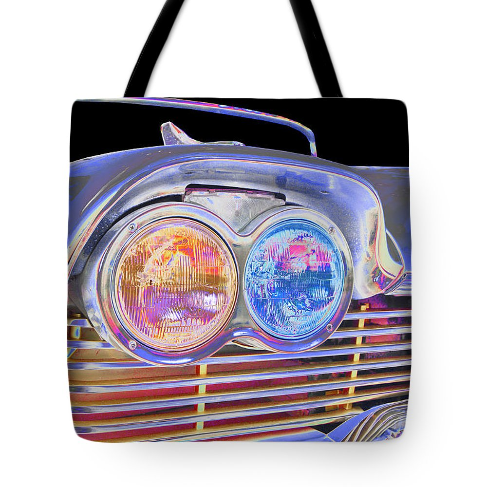 1958 Plymouth Fury Tote Bag featuring the photograph Plymouth by Allan Price