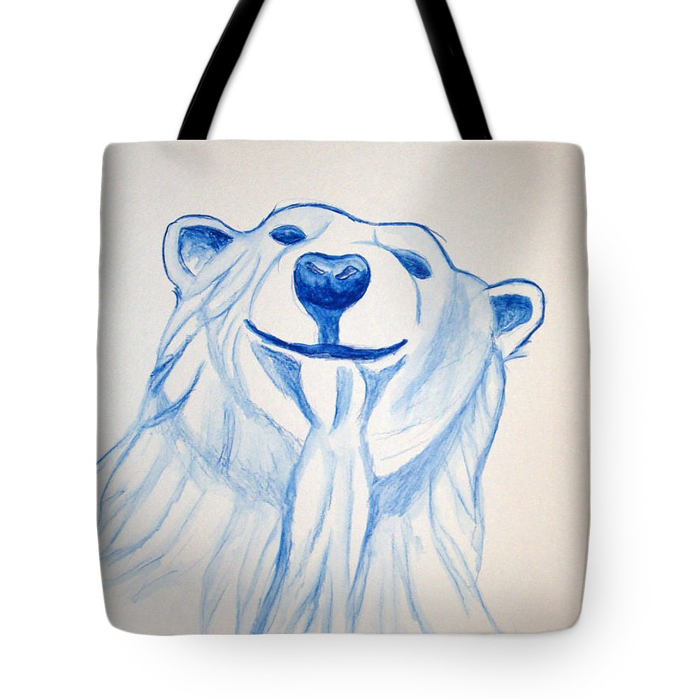 Rick Huotari Tote Bag featuring the painting Polar Bear by Rick Huotari