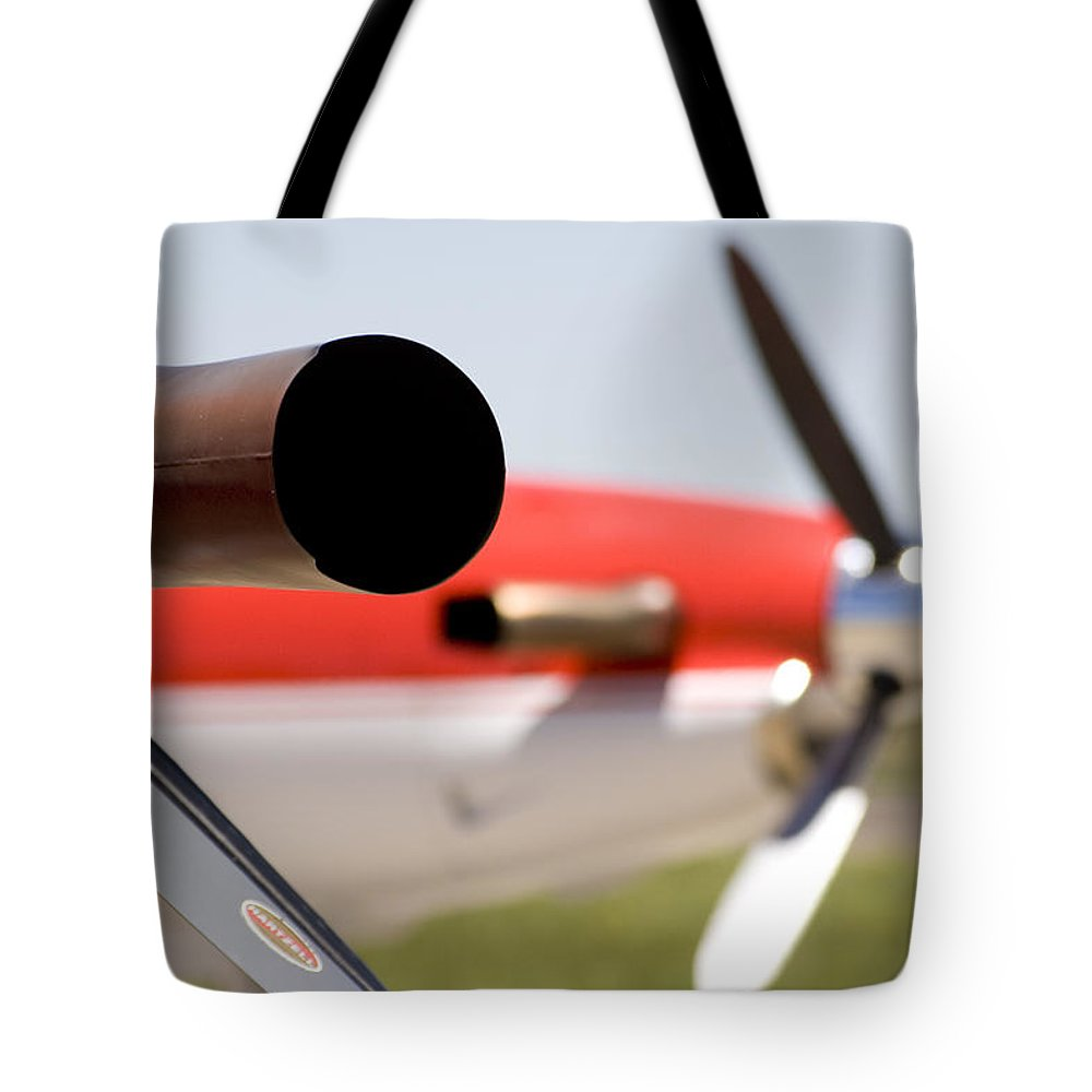 Pilatus Pc 12 Golden Eagle Tote Bag featuring the photograph Power by Paul Job
