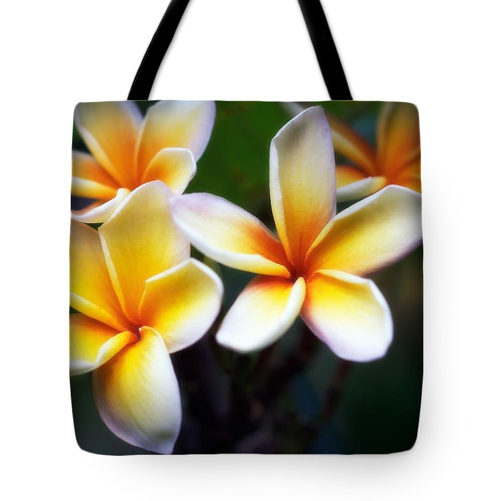 Floral Tote Bag featuring the photograph Pua Melia by Jade Moon